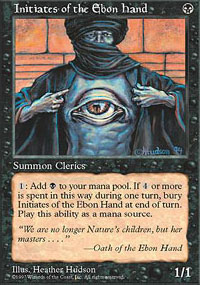 Initiates of the Ebon Hand (Fifth Edition MTG Card)