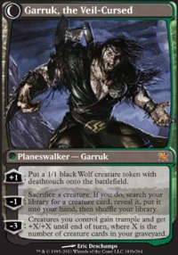 MTG Card: Garruk, the Veil-Cursed