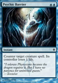 Psychic Barrier (New Phyrexia MTG Card)